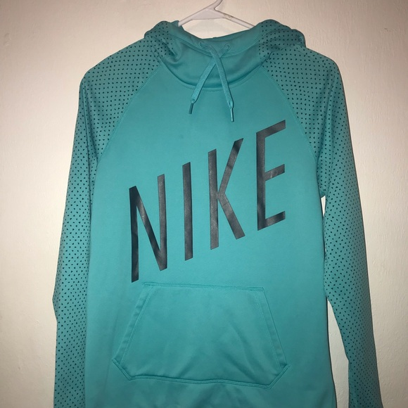 Women's Size Small Nike Dri Fit Teal Hoodie